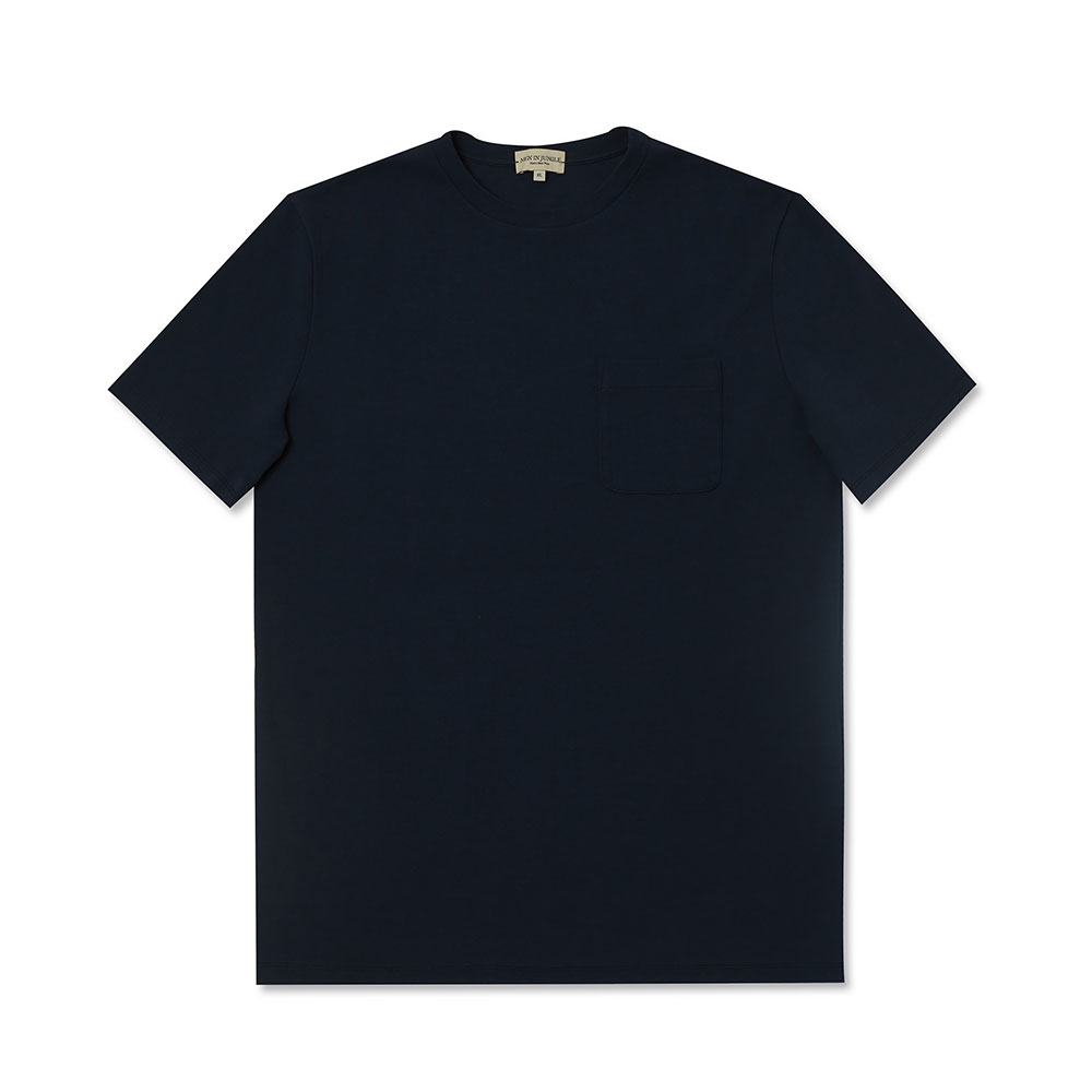 [맨인정글] Pino Crew-neck Pocket T-Shirt - Navy