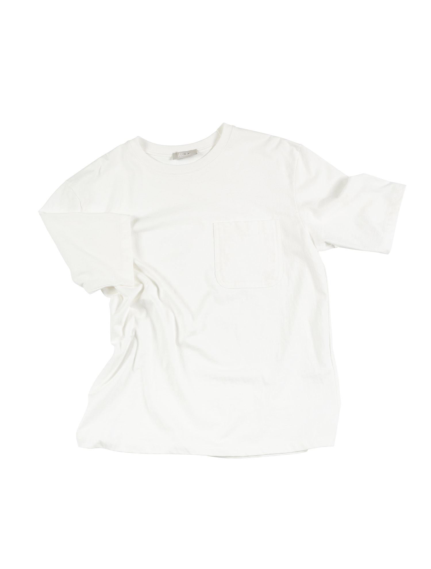 [올드비] ATTRACTIVE Crew neck Pocket Tee - Ivory