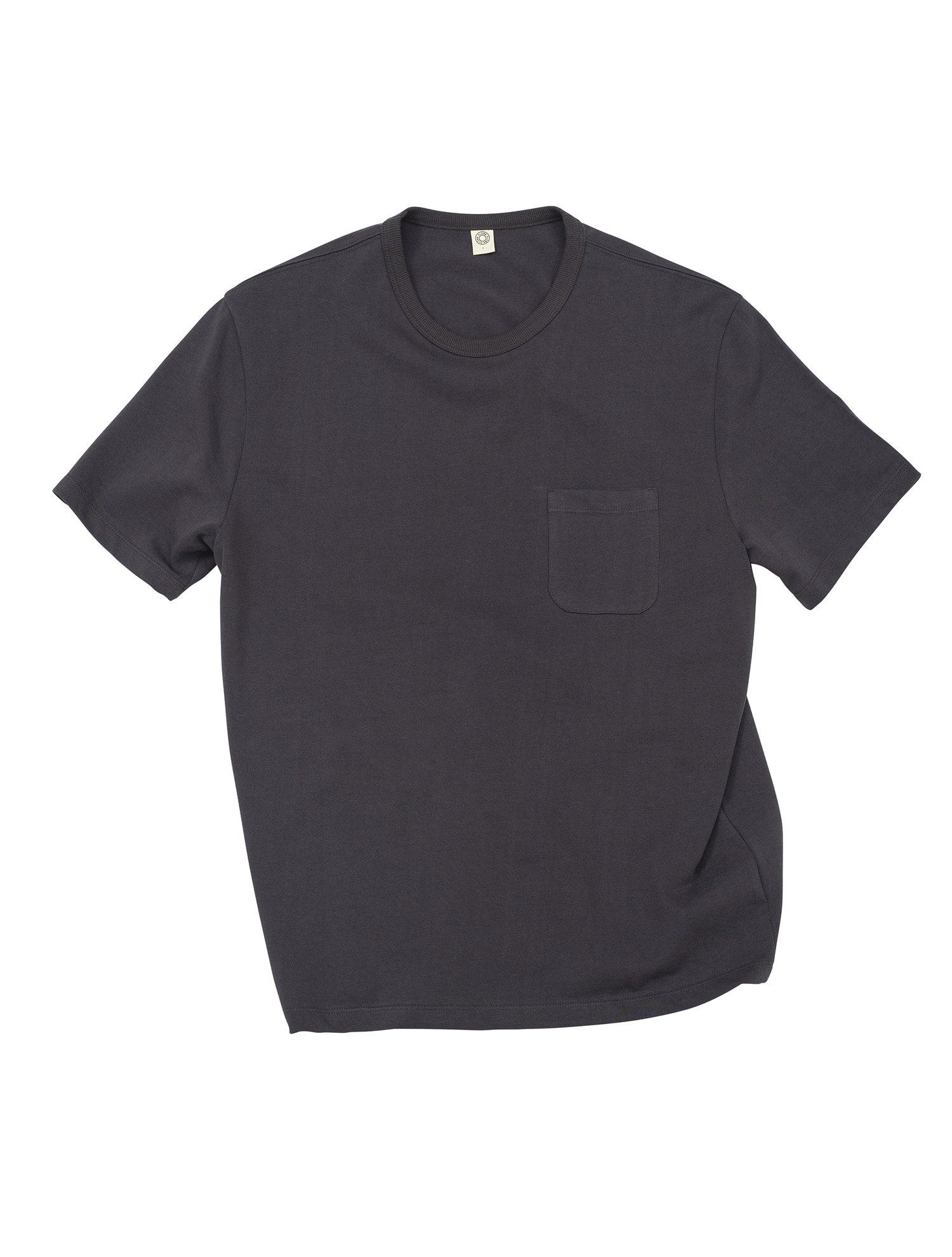 [올드비] GEN COTTON CREWN ECK T-SHIRT CHARCOAL GRAY