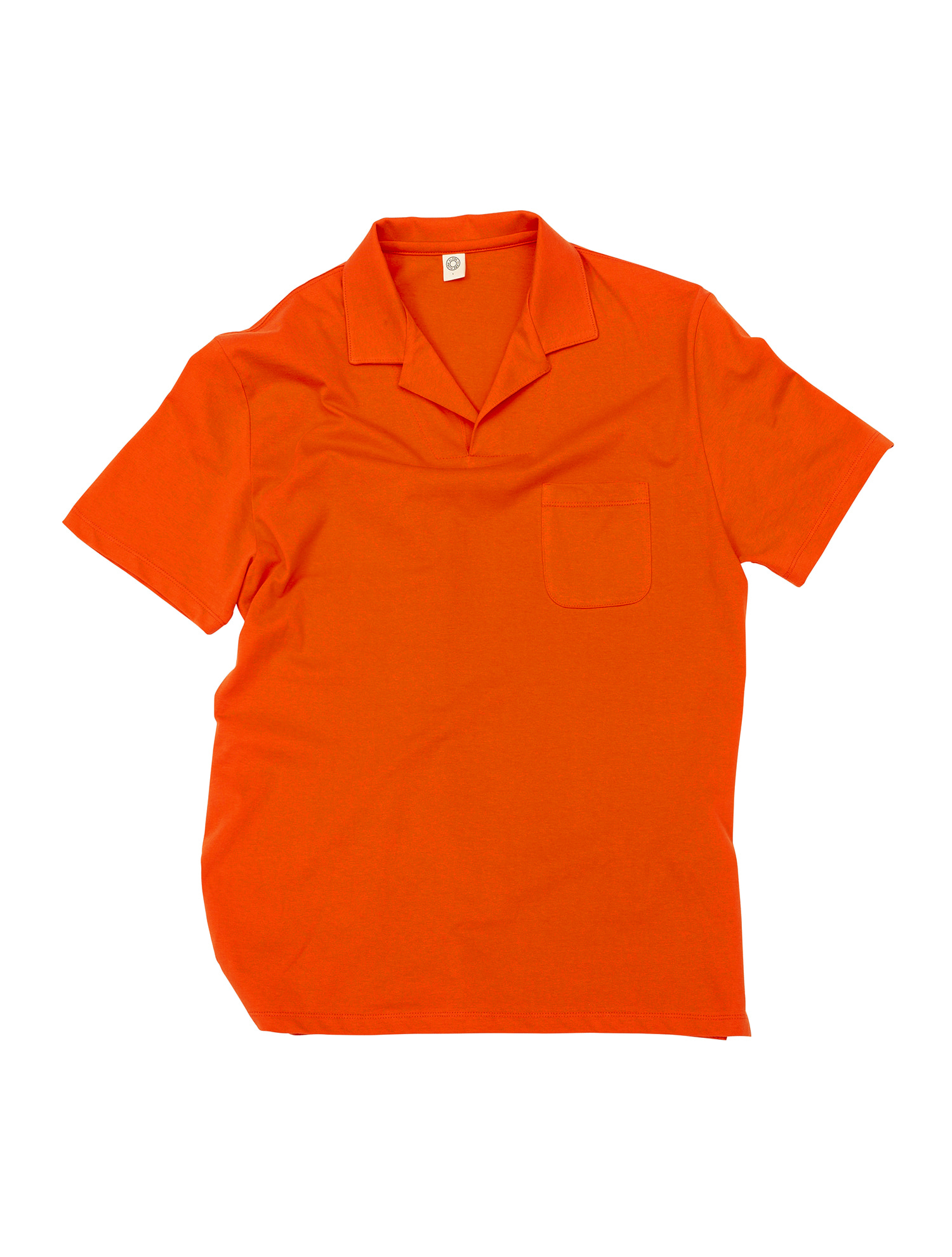 [올드비] GEN COTTON OPEN COLLAR POLO SHIRT CORAL ROSE
