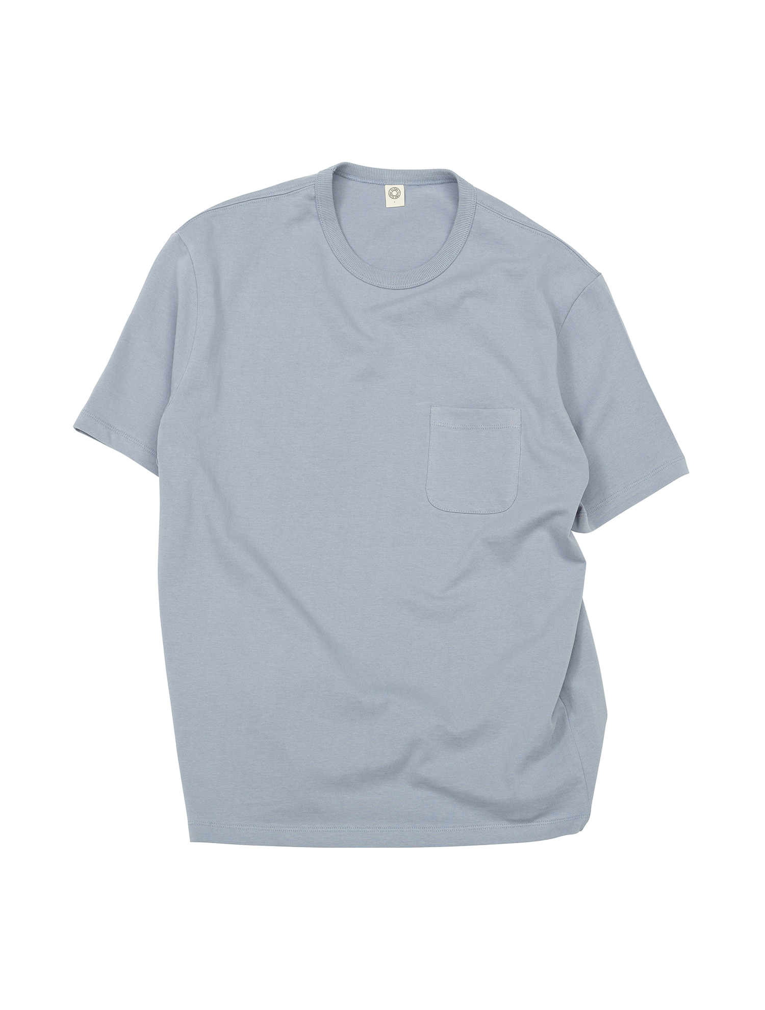 [올드비] GEN COTTON CREWNECK T-SHIRT DUSK BLUE